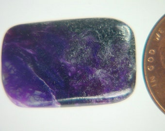 Genuine African Sugilite 9.4 ct Rectangle Cabochon Lapidary Gemstone 9980K