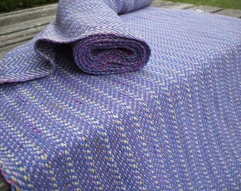 Author-created handwoven Baby Wrap Carrier Multicolor-Pattern Herringbone-Stripy- Blue - Medium Thickness -Stitched Hem