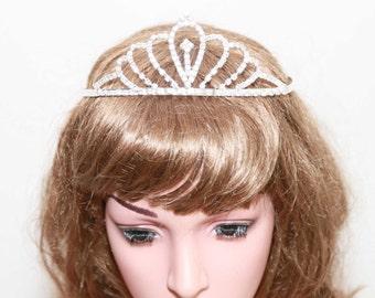 Rhinestone Tiara with Cubic Zirconia, Wedding Crown, Bridal Tiara,Tiara Headband, Bridal Headpiece, Bridal Hair Accessories