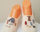 DOG Stuff Specially Designed Home Slippers, Dance classic yoga, house slippers, crochet shoes, balletflats pilates yogasocks