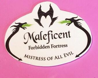Maleficent  Name Badge