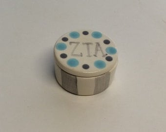 Zeta Tau Alpha Round Pin Box