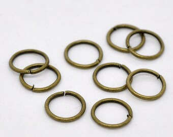 100pcs 9mm Antique Bronze Jump Ring - 18 Gauge, Jewelry Finding, Jewelry Making Supplies, DIY, Crafting, Necklace, Ships from USA - JR60