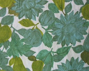 Vintage Cotton Fabric Quilting Cotton Quilting Fabric Vintage Fabric Fruit Fabric Vintage Floral Fabric Marcus Bros - 1 5/8 Yard - CFL1226