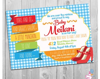 Wizard of Oz Baby Shower Invitation, Wizard of Oz Invitation, Printable Baby Shower Invitation, Wizard of Oz Baby Shower Invites, Digital
