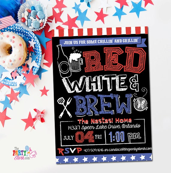 May The 4th Be With You Invitations: 4th Of July Invitations Printable Fourth Of July Party