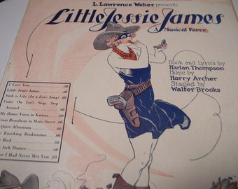 1923 Sheet Music Suppose I Had Never Met You, Little Jessie James, Harlan Thompson, Harry Archer
