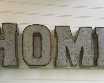 decorative metal letter you pick home wall letter sign signage rustic industrial wall letters nursery wedding love