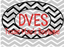 Chevron Oval Monogram Circle Instant Download Digital Design in SVG, DXF, EPS formats