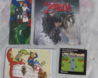 Nintendo Legend of Zelda, Link Set 4 Magnets - Handmade, Homemade Video Game Fridge Magnet - Wii Twilight Princess, Fan Art, Windwaker