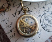 Pocketwatch, Mens Accessories, Small Mechanical Pocket Watch, Vintage Inspired, Steampunk, Victorian, Romantic, Rare Visible Movement