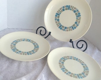 Vintage Temporama Dinner Plates Atomic Mid Century Modern China by Canonsburg Pottery