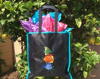 Custom Embroidered Nylon Mesh Screen Book Bag