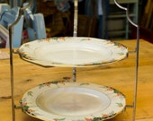 1930 Cake Stand, pretty vintage cake stand, Burleigh Ware England, Collectable
