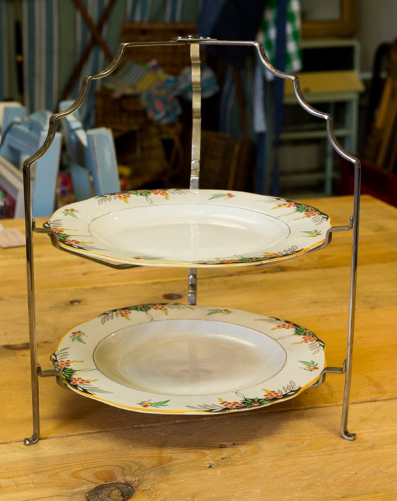 1930 cake stand pretty vintage cake stand burleigh ware for Pretty cake stands