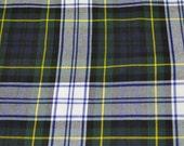 Gordon Dress Modern Tartan Fabric. Soft Poly viscose. Machine Washable.  Price per half metre.