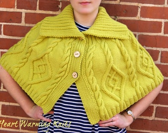 Hand Knitted Capelet