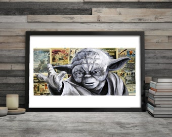 Paper Prints of Yoda from Star Wars