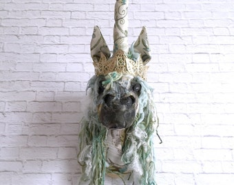 Gemma Unicorn Faux Taxidermy