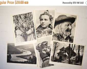 SALE Vintage lot of Prints of People Black and white wall decor