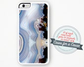 Serenity Blue Agate iPhone Case Marble iPhone 6 Case Agate iPhone 6 Plus Case Crystal Quartz Pastel iPhone Case Samsung S5 iPhone 5S Case