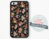Vintage Floral iPhone Case / Floral iPhone 6 Case Floral iPhone 6S Case Floral iPhone 5 Case iPhone 5S Case Silicone Case iPhone 5C 6 Plus