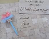100-175 pcs. Custom Wedding Guest Book Puzzle -Guest Book Alternative - Mixed grain pieces