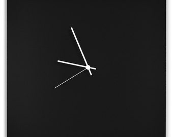 Blackout Square Clock | Minimalist Metal Wall Clocks, Contemporary Décor