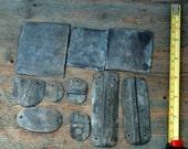 galvanized metal, assemblage metal, art metal, metal supplies, vintage wire, metal kit, cut metal, vintage metal, rusty tin