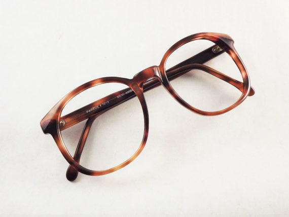 Vintage Tortoise Shell Eyeglass Frames : Dark Brown Tortoise Shell Eyeglasses Big Glasses Vintage