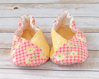 Baby Kimono Shoes - Baby Girl Slippers - Baby Girl Shoes (K025)