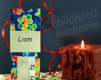 CHILDREN'S GROWTH CHART - Sea Life - Boy's  Keepsake Gift