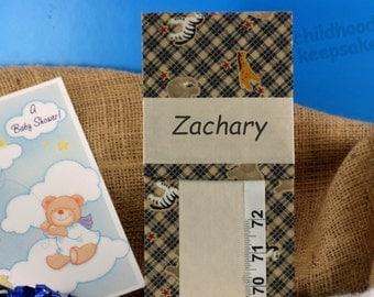 BOY'S GROWTH CHART - Nursery - Boy's Baby Shower - Zoo Growth Chart