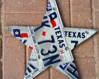 Texas Lone Star License Plate Art