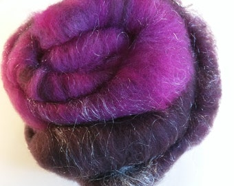 1.3 oz Batt Handpainted Merino and firestar spinning fiber