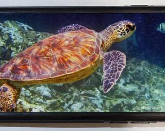 iPhone 6 Protective Case Cover w/ Hawaiian Sea Turtle Underwater
