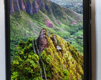 iPhone 6 Protective Case Cover w/ Stairway to Heaven (Haiku Stairs) Hiking Trail in Kaneohe, Oahu,Hawaii