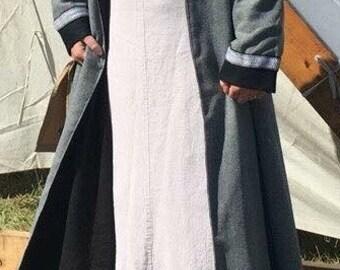 Viking Wool Coat~ Wool Norse Coat~ Wool Coat for HIstorical Reeanctment