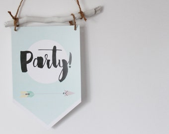 Wall art printable Party