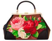 Retro handtas, Red Paris, kerstcadeau, geschenk voor haar, valentijn geschenk, verjaardagsgeschenk, geschenk moeder, Woody Ellen handtas