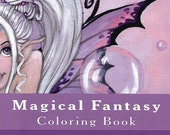 Magical Fantasy Coloring Book - Fairy coloring for adults and kids- by Ronne P Barton