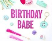 Birthday Babe Glitter Garland