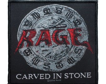 "German Heavy Metal Band ""Rage: Carved in Stone"" Album Art Sew On Applique Patch"