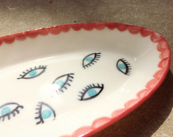 Eye See You Porcelain Dish