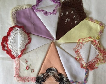 Vintage Fancy LACY Hankies
