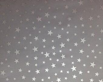 Five (5)  Silver Stars Vellum Vellum 8.5 X 11, Vellum Paper, Wedding Paper Vellum, Star Vellum, Planner Paper