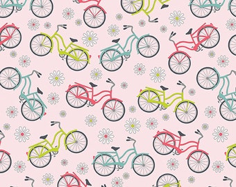Sunday Ride Bicycles by Cherry Guidry for Banartex patchwork quilting fat quarter P10085