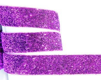 "5Yd Violet 5/8"" Sparkle Ribbon"