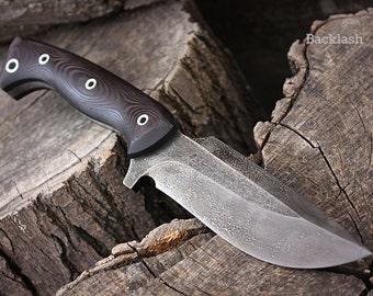 "Handcrafted FOF ""Backlash"", survival knife"