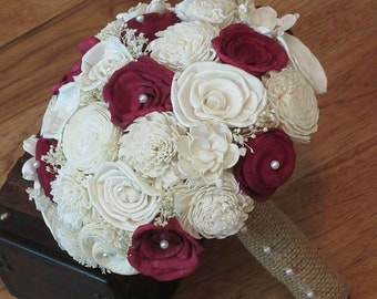 Wedding Bouquet, Sola Bouquet, Red Wood Bouquet, Bridal Bouquet, Sola flowers, Bouquet, Handmade